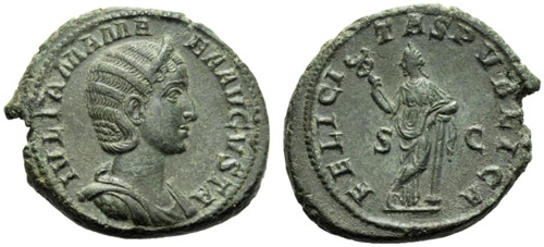 julia mamaea roman coin as